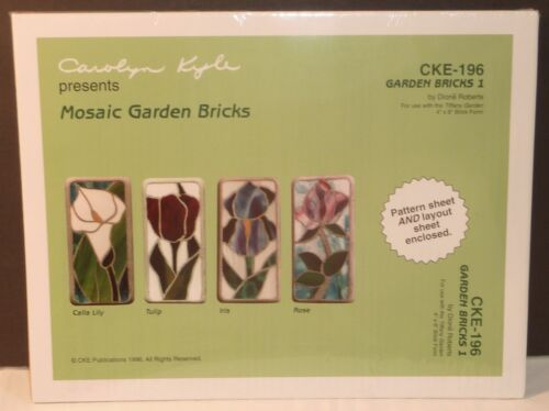 Carolyn Kyle ~ Stained Glass Mosaic Garden Bricks ~ Calla Lily Tulip Iris Rose