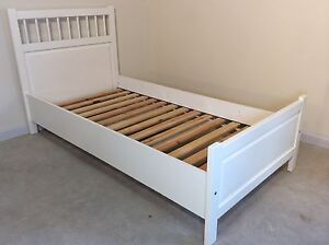 Single Hemnes bed off white colour SYDNEY DELIVERY & ASSEMBLY Windsor Hawkesbury Area Preview