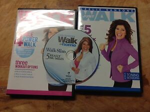 3 walk at home DVDs in VGUC