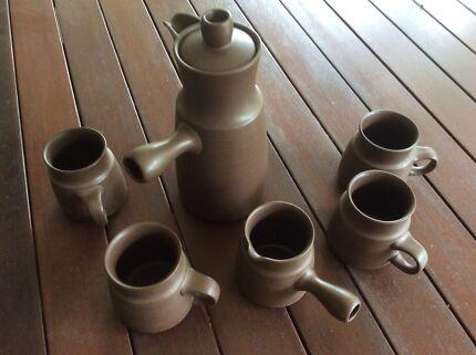 English stoneware coffee set & DINNERWARE STONEWARE SET 8 PERSON SETTING BRAND STONEAGE ...