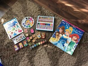 Lot of princess art supplies
