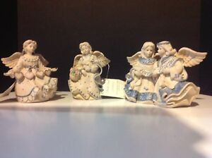 3 Sarah's Angel Figurines