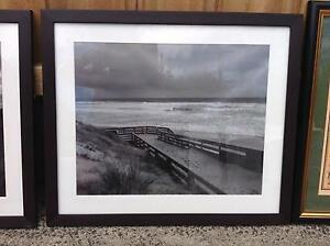 TWO FRAMED AND MOUNTED BLACK AND WHITE  PHOTOGRAPHS $30 Ormond Glen Eira Area Preview