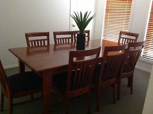 9 piece Timber dining setting Scoresby Knox Area Preview