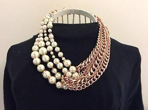 Mimco rose gold & pearl adjustable necklace Clarence Town Dungog Area Preview