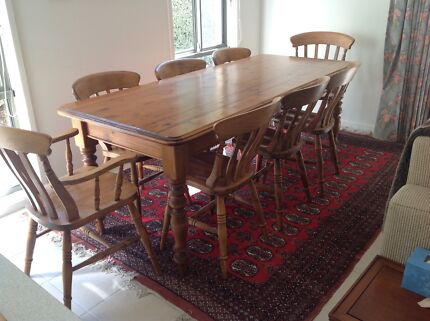 Reclaimed Pine Table plus 8 chairs Harrison Gungahlin Area Preview