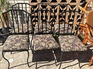 Steel framed padded dinning chairs Redcliffe Redcliffe Area Preview