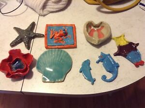 Pottery clay pieces