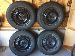 Winter snow tires set 195/65R15. 5 bolt