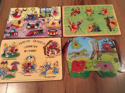 Many Wooden Puzzles