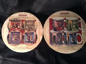 Sakura Storefronts Dessert Plate and Mug Collection Gift Set