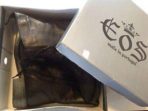 EOS Black Leather Boots Size 40 Melbourne CBD Melbourne City Preview