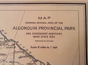 Old Maps of Algonquin Park & Ontario London Ontario image 9