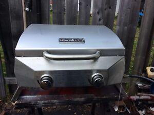 Two burner  stainless bbq grill portable