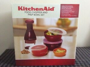 Kitchen Aid Food Chopper and Prep Bowl set, brand new