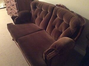 Antique French Provincial  Velour Love Seat