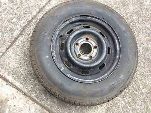 wheel rim & tyre 165/75/13 inch old holden Torana & HT stud pater Mount Druitt Blacktown Area Preview