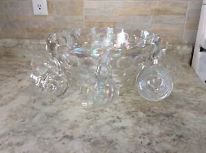 Beautiful Opalescent Punch Bowl