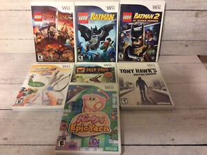 Wii Games- Kirby, Batman, Lord of the Rings