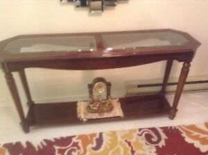 Beautiful Beveled Glass Console table