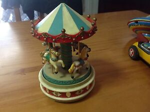 Antique /vintage spinning top & Musical Carousel Bull Creek Melville Area Preview