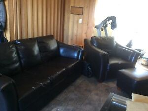 Couch and chair - footstool not included