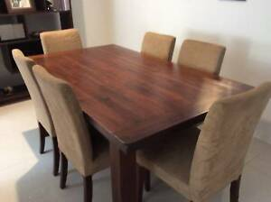 REDUCED! Excellent Condition Solid Timber 6-seat Dining Table & Chairs