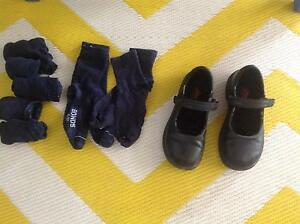 Girls School Shoes with Navy Socks Caravonica Cairns City Preview