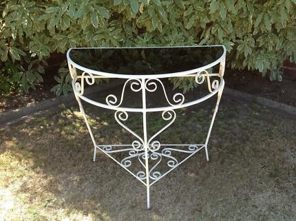 WROUGHT IRON HALL TABLE