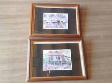 2x Malaysia Malaysian scene pictures in wood & gold frame - displ Miranda Sutherland Area Preview