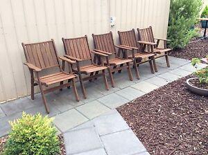 5 Jarrah Jensen outdoor chairs Wattle Park Burnside Area Preview