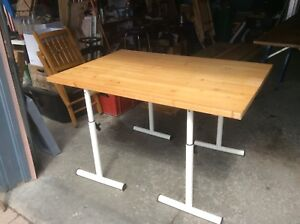 Maple Top Adjustable Table or Desk