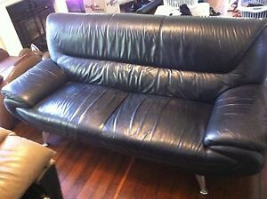 Leather 3-seater Lounge. Frenchs Forest Warringah Area Preview