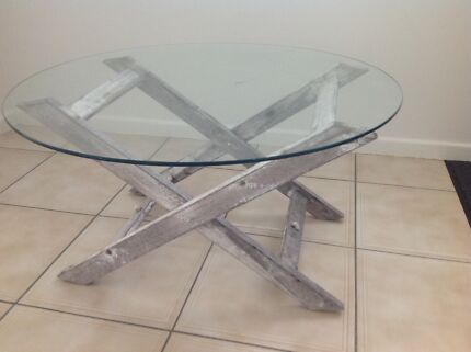 Glass, round piece, suitable for a coffee table, 75cm