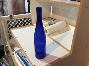 Wine bottles / rare blue used for red or white