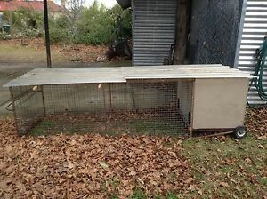 PET HUTCH with COVERED RUN on WHEELS Blackheath Blue Mountains Preview