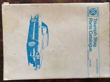 Triumph STAG British Leyland PARTS Catalouge April 1974 Illawong Sutherland Area Preview
