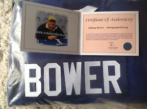 Signed jersey johnny bower
