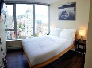 SUBMASTER FURNISHED BEDROOM FOR RENT IN DOWNTOWN VANCOUVER!