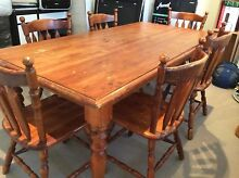 solid wood dining table and 6 (+ 2) solid wood chairs Meroo Meadow Nowra-Bomaderry Preview