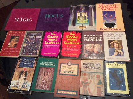 Witchcraft / occult / magic book selection - 21 books