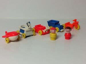 Fisher Price vintage Little People Play Family Little Riders
