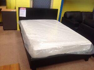 Prado leather-look beds (black or white)
