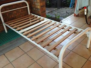 White tubular frame single bed Carindale Brisbane South East Preview