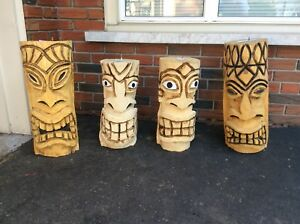 Chainsaw carved Tikis
