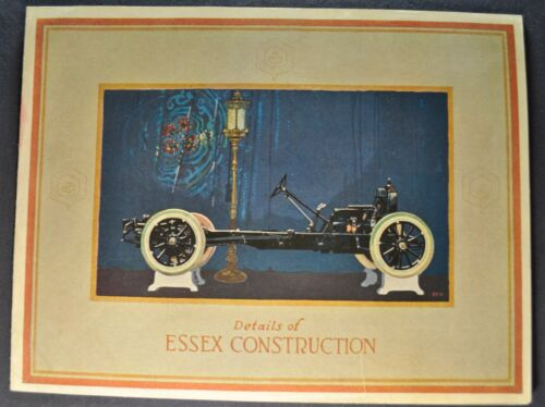1924 Essex Six 6 Construction Sales Brochure Folder Nice Original 24
