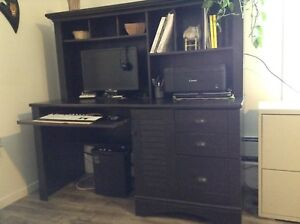 Like new, distressed finish, hutch style desk.