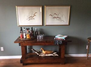 Rustic Work Bench ( console table)