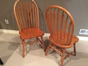 Two beautiful oak chairs