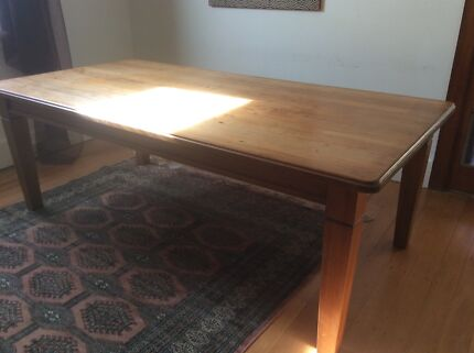 Recycled kauri wood dining table